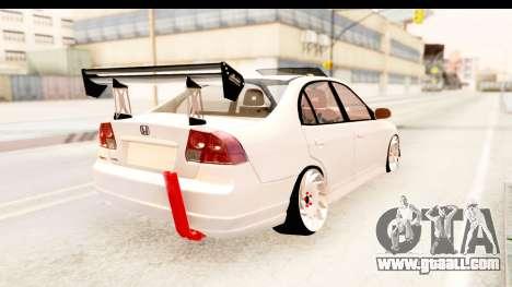Honda Civic Vtec 2 Berkay Aksoy Tuning for GTA San Andreas left view
