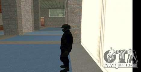 GTA 5 FIB SWAT Blue for GTA San Andreas third screenshot