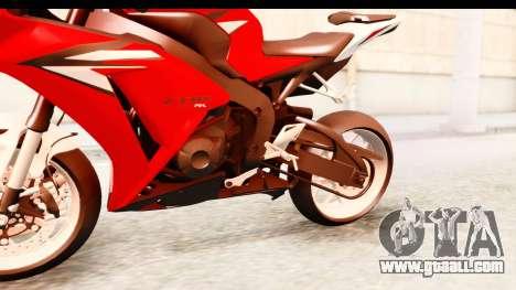 Honda CBR1000RR 2012 for GTA San Andreas inner view