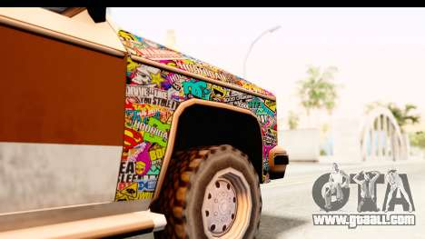 Rancher Sticker Bomb for GTA San Andreas back view