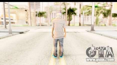 Toni Raut Purple Hair for GTA San Andreas third screenshot