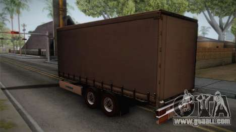 Mercedes-Benz Actros Mp4 v2.0 Tandem Trailer for GTA San Andreas left view