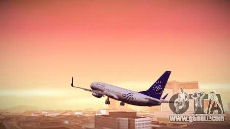 Boeing 737-800 Korean Air Skyteam for GTA San Andreas left view