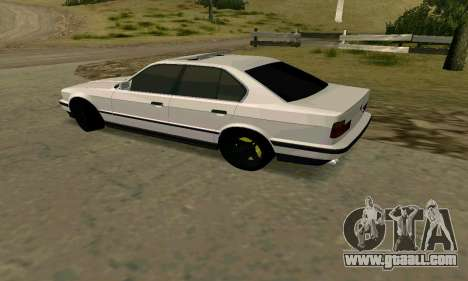 BMW 535i E34G for GTA San Andreas back left view