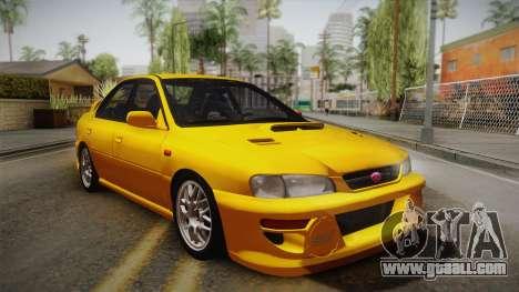 Subaru Impreza WRX STI GC8 1999 v1.0 for GTA San Andreas inner view