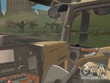 Mercedes-Benz Actros Mp4 4x2 v2.0 Steamspace v2 for GTA San Andreas upper view