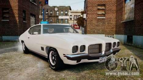 Pontiac LeMans Coupe 1971 for GTA 4 left view