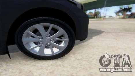 Toyota Corolla 2014 HQLM for GTA San Andreas right view