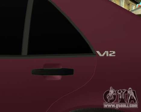 Mercedes S-600 Armenian for GTA San Andreas inner view