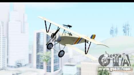 Nieuport 11 Bebe - Nr.865 Romania for GTA San Andreas