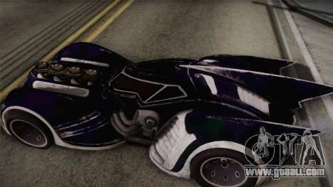 Batman Arkham Asylum Batmobile for GTA San Andreas back left view