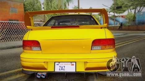 Subaru Impreza WRX STI GC8 1999 v1.0 for GTA San Andreas bottom view