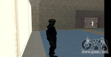 GTA 5 FIB SWAT Blue for GTA San Andreas fifth screenshot