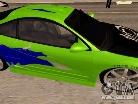 Mitsubishi Eclipse The Fast and the Furious for GTA San Andreas right view