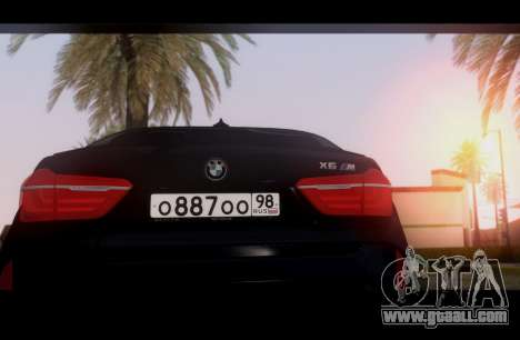 BMW X6M BULKIN ED. for GTA San Andreas right view