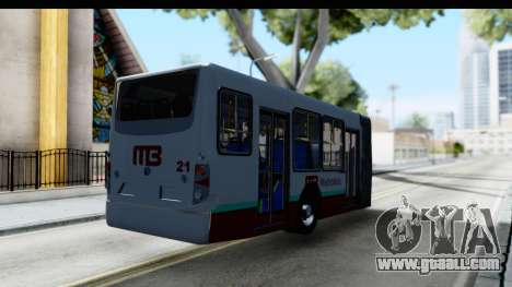 Metrobus de la Ciudad de Mexico Trailer for GTA San Andreas back left view