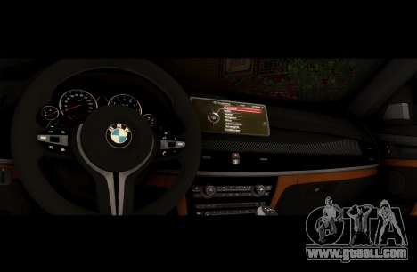 BMW X6M BULKIN ED. for GTA San Andreas inner view