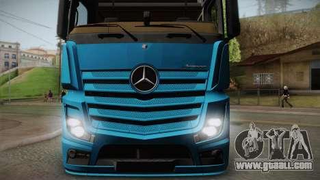 Mercedes-Benz Actros Mp4 6x4 v2.0 Gigaspace v2 for GTA San Andreas back left view