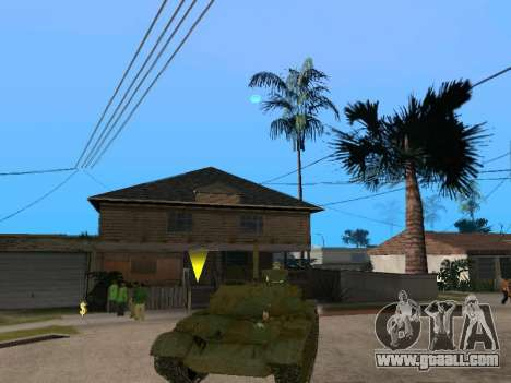 T-62 for GTA San Andreas right view