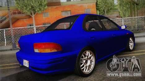 Subaru Impreza WRX STI GC8 1999 v1.0 for GTA San Andreas left view