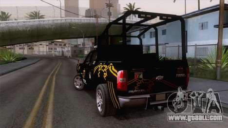 Chevrolet Silverado de la Fuerza Coahuila for GTA San Andreas left view