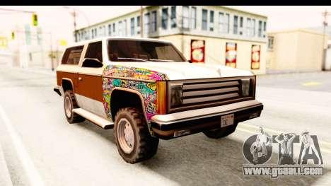 Rancher Sticker Bomb for GTA San Andreas right view