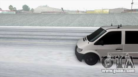 Mercedes-Benz Vito for GTA San Andreas back left view