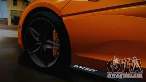 McLaren 570GT 2016 for GTA San Andreas back view