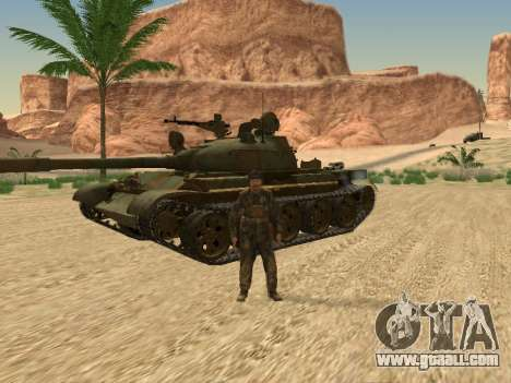 T-62 for GTA San Andreas inner view