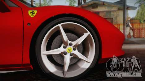 Ferrari 488 Spider for GTA San Andreas back view