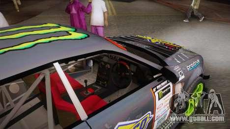 D1GP Toyota Mark II Sunoco Monster for GTA San Andreas inner view