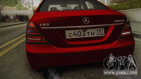 Mercedes-Benz W221 S65 Stance v2 for GTA San Andreas right view