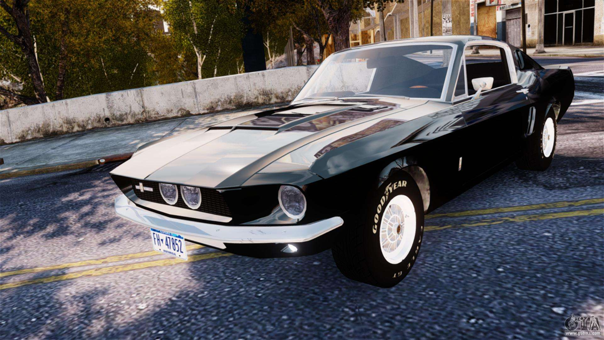 ford mustang shelby gt500 1967 for gta 4. Black Bedroom Furniture Sets. Home Design Ideas