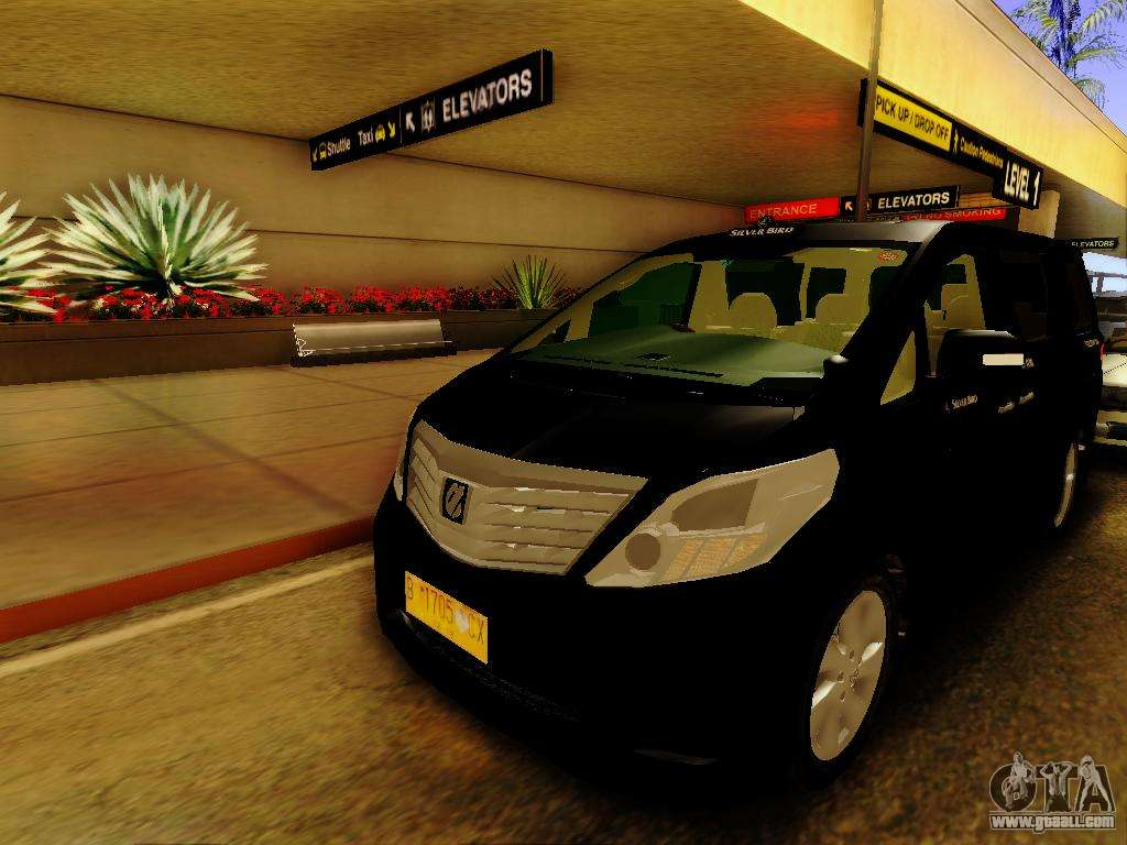toyota alphard taxi silver bird for gta san andreas. Black Bedroom Furniture Sets. Home Design Ideas