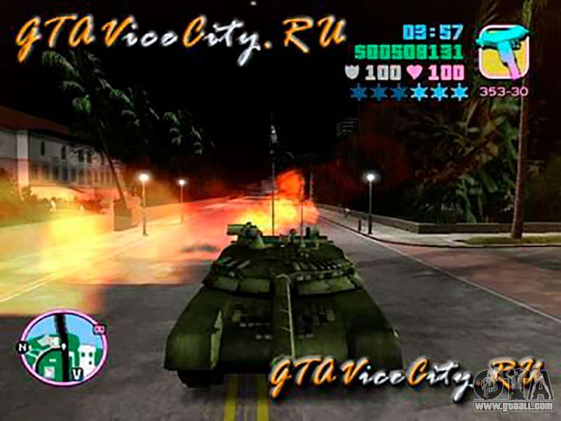 Drive A Tank >> T80 for GTA Vice City
