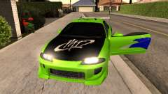 Mitsubishi Eclipse The Fast and the Furious for GTA San Andreas