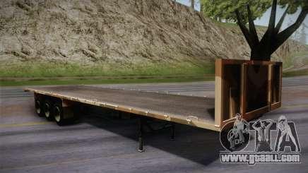 GTA 5 Army Flat Trailer IVF for GTA San Andreas