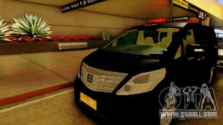 Toyota Alphard Taxi Silver Bird for GTA San Andreas