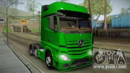 Mercedes-Benz Actros Mp4 6x2 v2.0 Gigaspace v2 for GTA San Andreas