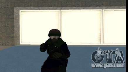GTA 5 FIB SWAT Blue for GTA San Andreas