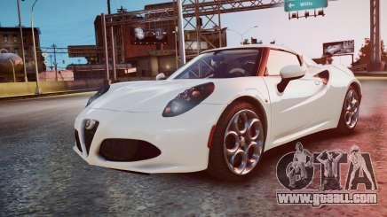 Alfa Romeo 4C 2016 for GTA 4