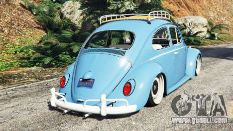 GTA 5 Volkswagen Fusca 1968 v0.9 [replace] rear left side view
