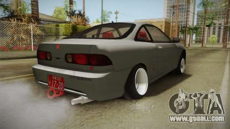 Honda Integra Type R for GTA San Andreas back left view