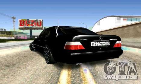 Mercedes-Benz E500 W124 for GTA San Andreas right view