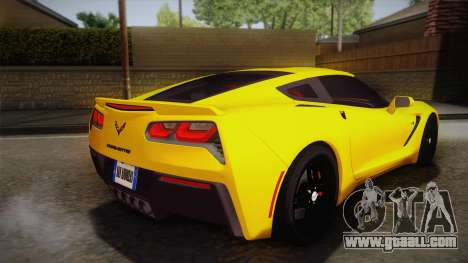 Chevrolet Corvette Stingray 2015 for GTA San Andreas left view