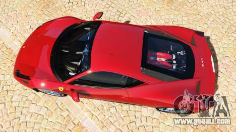 GTA 5 Ferrari 458 Italia v2.0 [add-on] back view