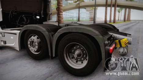 Mercedes-Benz Actros Mp4 6x2 v2.0 Steamspace for GTA San Andreas