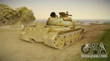 T-62 Desert Camo v2 for GTA San Andreas right view