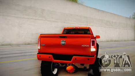 Dodge Ram 2500 Lifted Edition for GTA San Andreas upper view