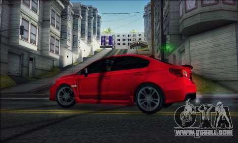 Subaru WRX 2015 for GTA San Andreas back left view